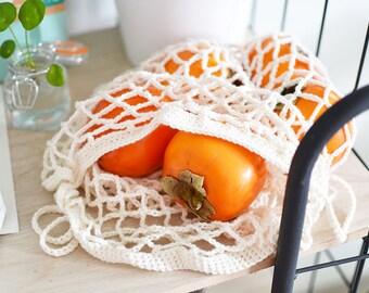 Crocheted fruit and vegetable/crochet marketbag/reusable/shopping bag/Grocery/vegetable bag/Eco friendly/Zero waste