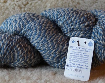 Denim & Light Sheeps Gray 2 ply marl worsted weight wool yarn from Bartlettyarns