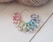 10 Piece No Snag Stitch Markers -Pastel Mix Snag free Stitch Markers for Knitting -Knitter Accessories -Stitch Marker -Knit