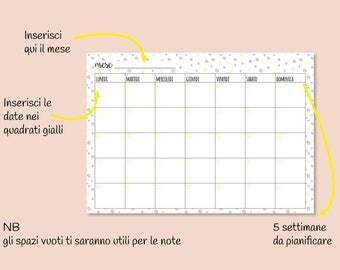 6 monthly planner, printing planner, printable, INSTANT DOWNLOAD, planner Week, planner month, calendar