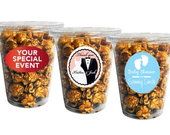 Custom Wedding Favors Gourmet Popcorn (1.5 Cup) | Custom Popcorn Wedding Food Wedding Gift Popcorn Treat Bags Favor Bag Made to Order Gift