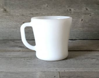 Vintage Federal Milk Glass Heat Proof Mug