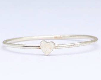 Sterling silver tiny heart ring, Love ring , Stacking ring, Silver minimalist ring, Promise ring, Heart jewelry, Dainty ring, Free shipping