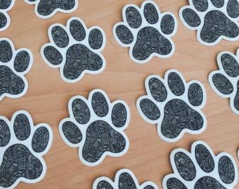 Zentangle Paw sticker