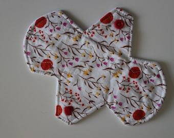 "6.75"" liner, reusable cloth pantyliner - far far away organic cotton"
