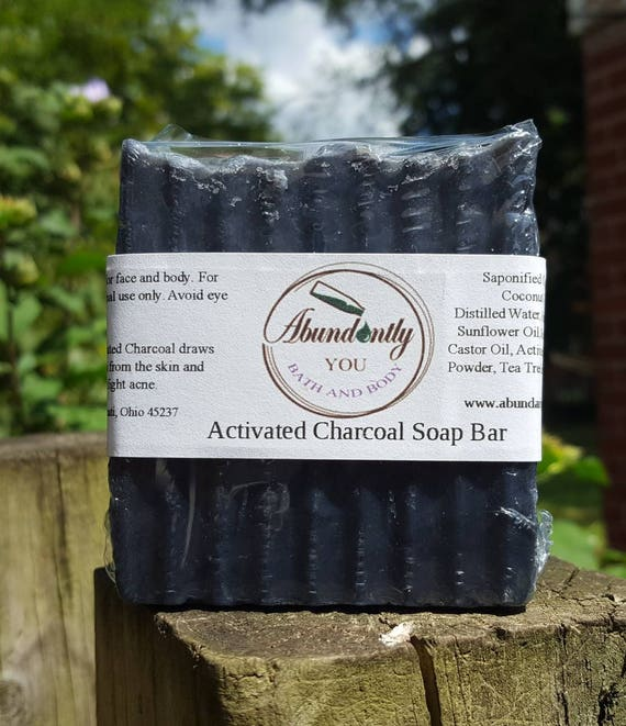 Activated Charcoal and Tea Tree Cleansing Soap Bar | Approximately 4 oz | Face and Body