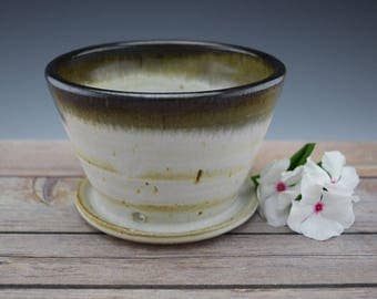 Handmade Ceramic Planter, Handmade Flower Pot, Small Planter, Succulent Planter, Wheelthrown