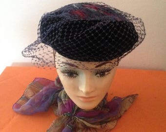 Anniversary Sale Ladies Vintage Hat with Feathers