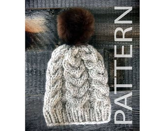Horseshoe Cable Knit Toque - SALE 50% off pattern