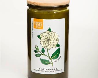 Gardenia 18oz Soy Wax Candle