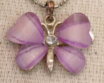 """Vintage Butterfly Necklace, 16"""" long"""