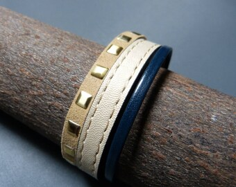 Cuff saddlery leather & suede square