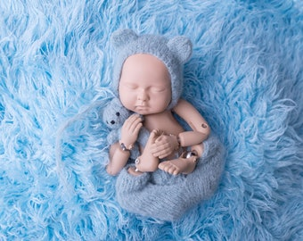 NEWBORN SET Photoprops Baby bear newborn set - baby bear hat outfit - newborn bear outfit