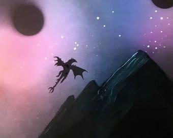 Skyrim dragon painting.