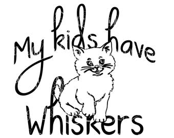 KITTEN CAT SVG Decal Digital Download Kitty sil png svg Sticker whiskers kids Adopt