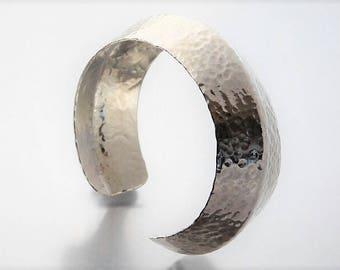 Hammered and Formed Sterling Cuff Bracelet