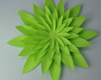 DIY flower kit  cardstock  flower kit  5 mini flower martian green