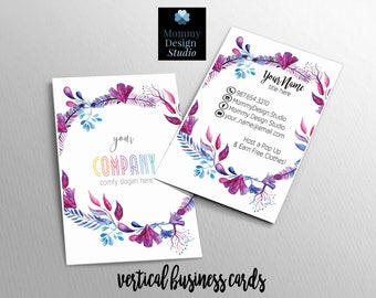 WaterColor Floral Business Card - Customizable for your business - HO Approved - bundles available - caught in the wild mula card - legging