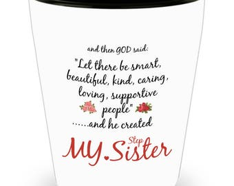 Stepsister Mug - Step Sister Gift - Funny I Love My Sister Novelty Cup From Brother