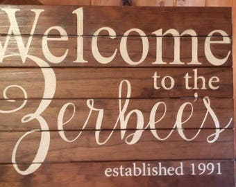 Welcome Family Sign - Custom Made