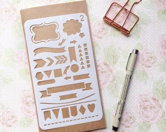 Bullet Journal Stencil #2 - Planner, Journal, Craft, Srcapbooking, Decoration