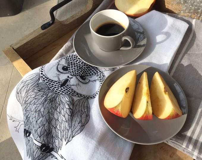 Owl - Kitchen And Dining Cloth Napkins - Set of 4