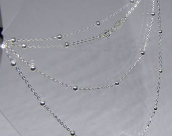 Fancy link chain of necklace in silver - 45 cm-