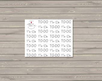To-Do Script Stickers