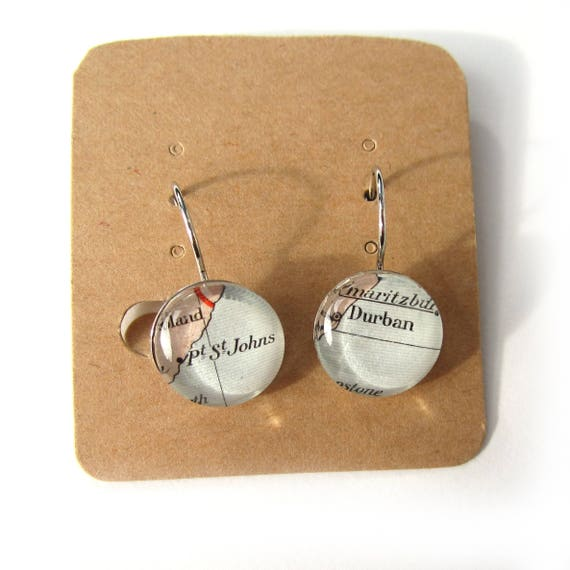 World map earring - Africa variations