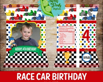 Race Car Birthday Printable Chip/Treat Bags