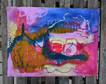 Abstrackte art, original art, wall painting, mixed media, wall art, modern, mixed media