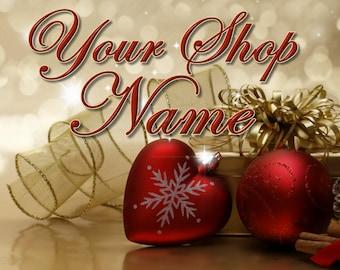 Logo Banner, Banner Set, Shop Banner, Premade Banner, Christmas Shop Set, Christmas Shop Banner, Christmas Banner Set, Christmas Cover Photo