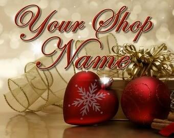 Christmas Shop Banner, Christmas Shop Set, Shop Banner, Christmas Banner Set, Shop Set, Christmas Cover Photo, Shop Design, Banner Set,