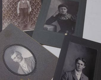 Antique Photos Lot Of 4