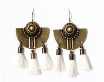 Bronze earrings Inca
