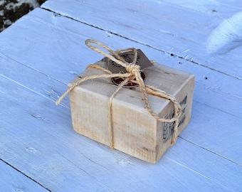 Tea Light Holder, Candle Block - Reclaimed Wood, Pallet Wood - Handmade