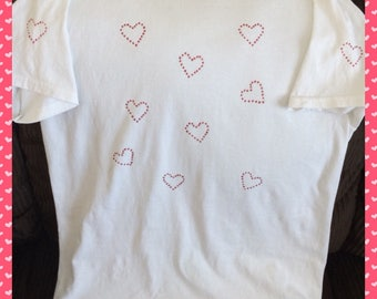 White Heart Tshirt