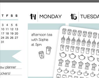 IC50-57 | Icon Stickers | Coffee Stickers | Tea Stickers | Planner Stickers | Bullet Journal Stickers