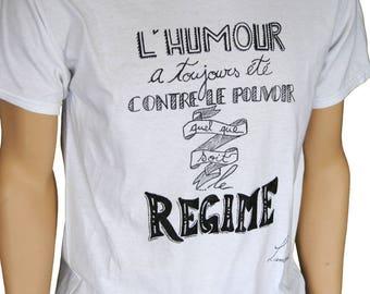 T-shirt funny man power system