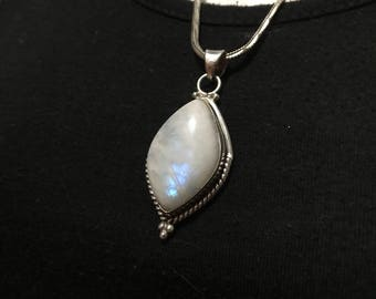 Vintage silver Moonstone pendent, in a native or boho style, sterling 925