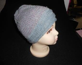Children's hat - warm and blue
