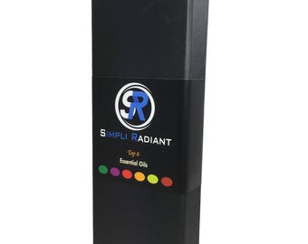 Top 6 Essential Oils Therapeutic - 6/10 ml (Lavender, Tea Tree, Eucalyptus, Lemongrass, Orange, Peppermint) Simpli Radiant