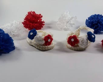 red white and blue sandals, Fourth of July Sandals, Baby Sandals