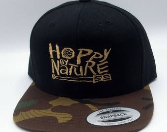 Hoppy By Nature Snapback Cap Hat Craft Beer Hat Trucker Cap