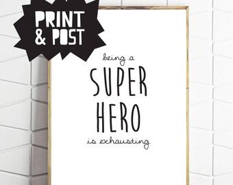 hero gift, hero theme, hero room, hero print, hero wallart, hero posters