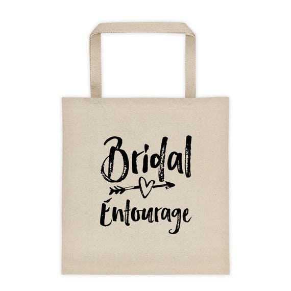 Bridal Entourage Tote bag, Bridesmaid Tote Bag, Bridesmaid Gifts, Bride Tribe, Bride Squad, Bride's Entourage, Gifts for Bridesmaids, Brides