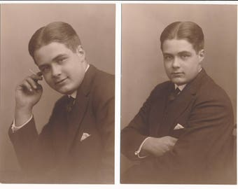 2 wonderful photos of a young man - 2 wonderful portraits of a young man!