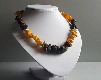 Amber necklace, Natural Baltic amber, amber beads, multicolor amber necklace, amber jewelry
