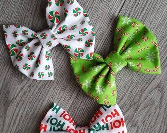 Christmas hair bows