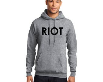 RIOT Pullover Hooded Sweatshirt Always Sunny in Philadelphia Mac's Hoodie